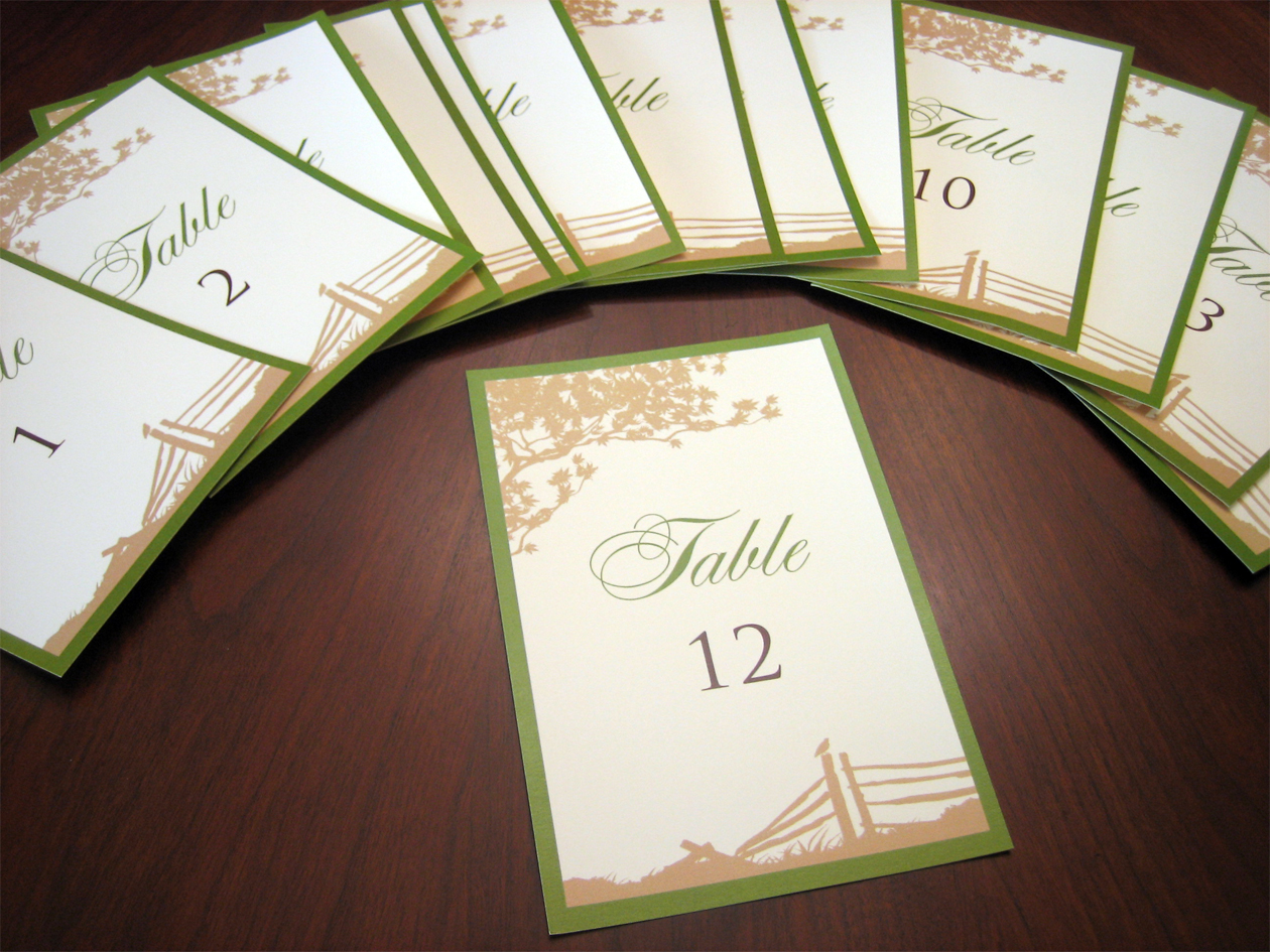 Table Number Cards To Match Your Wedding Theme A Vibrant Wedding