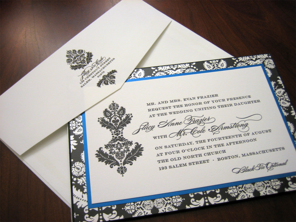 Dark Blue Wedding Invitations: Royal Blue Wedding Invitation