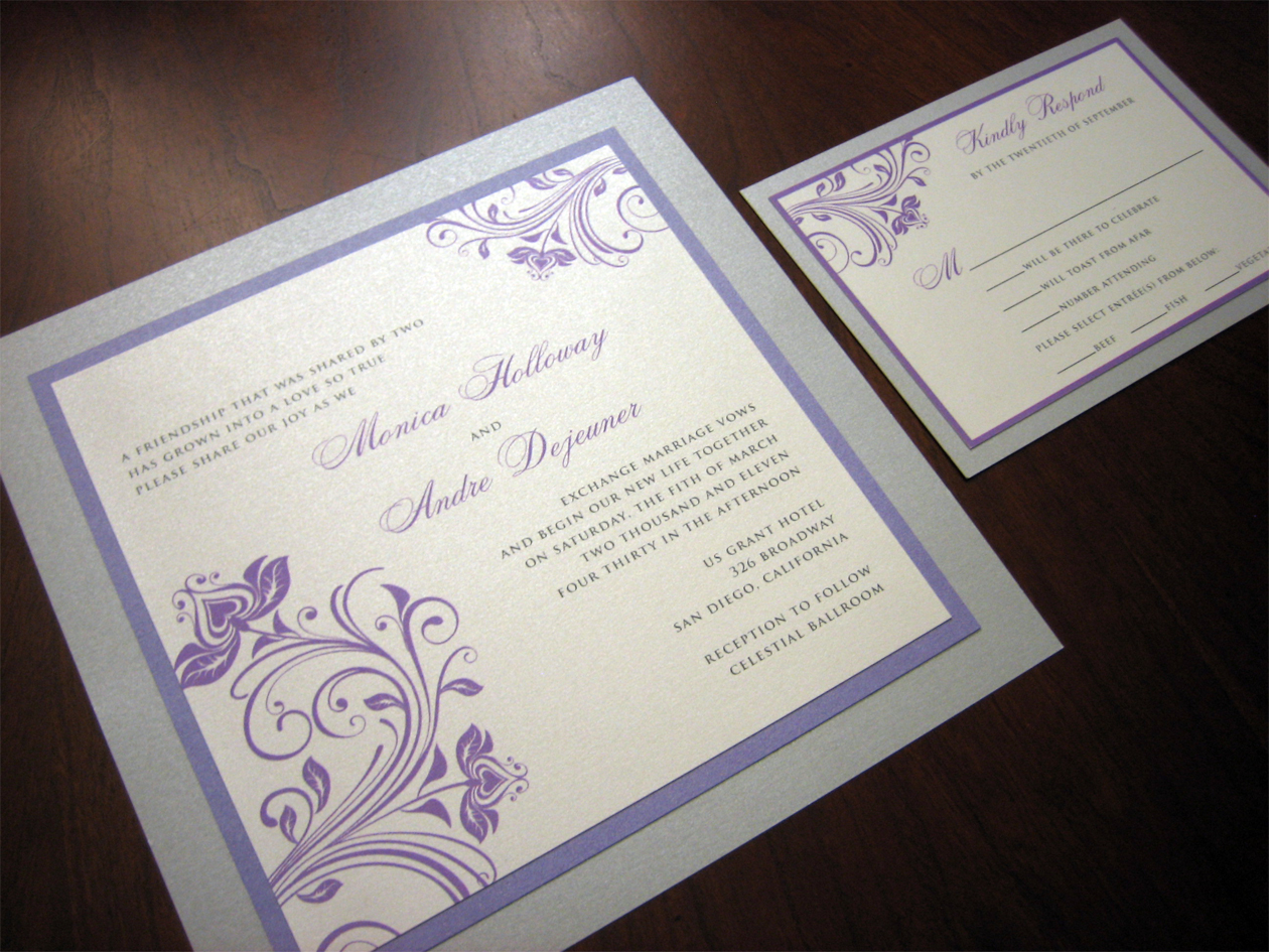 Purple And Silver Wedding Invitations 004 - Purple And Silver Wedding Invitations