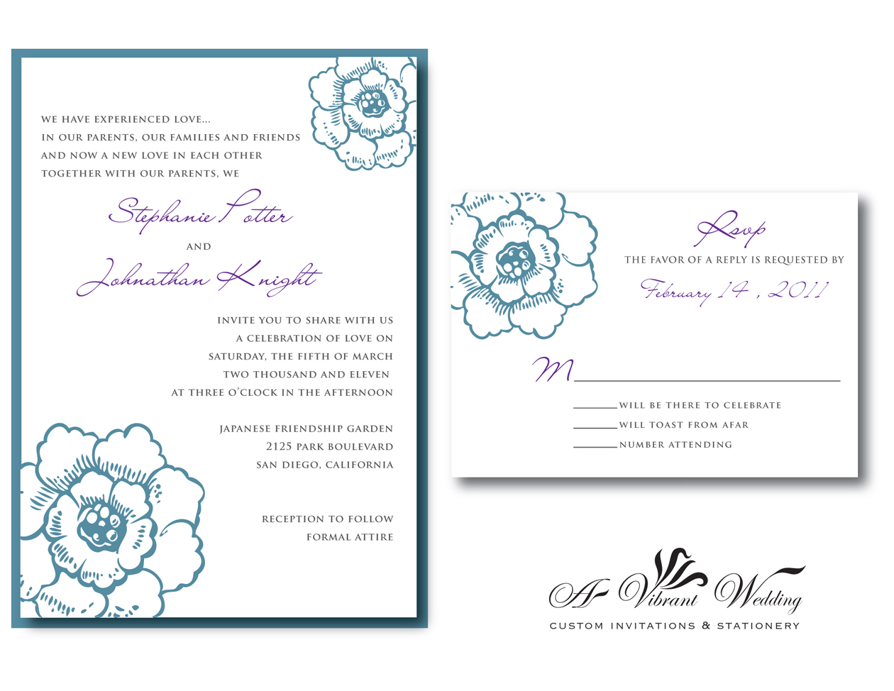 Purple And Blue Wedding Invitations: A Vibrant Wedding Invitations