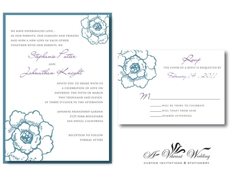 Blue & Purple Invitation