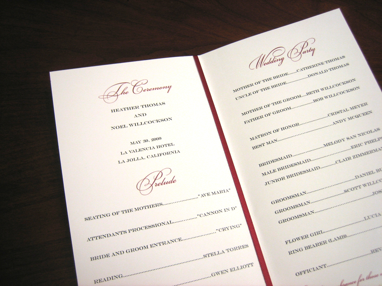 Http Vibrantweddings Wordpress Com Category Wedding Stationery Ceremony Programs Wedding Stationery