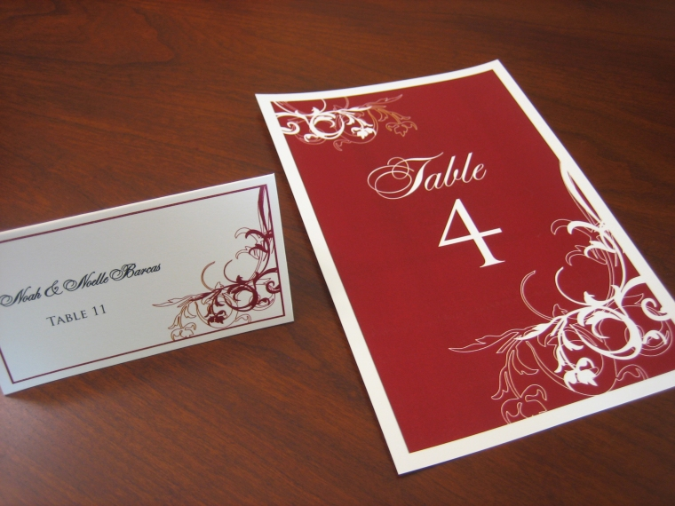 Table Card & Place Card