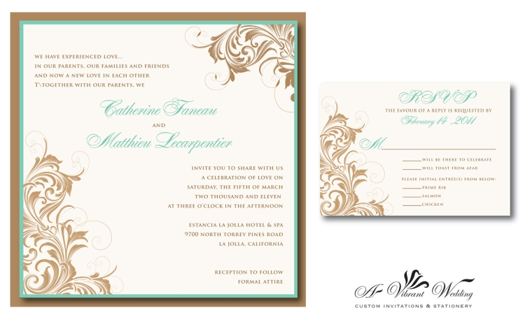Victorian or Vintage Style Wedding Invitations