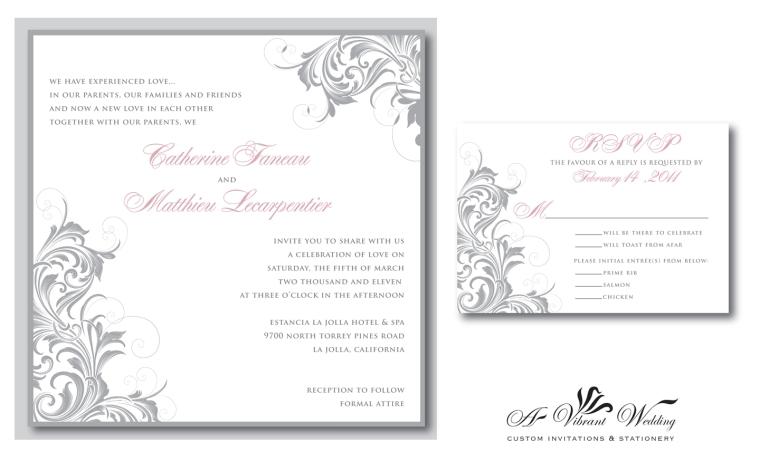 Victorian or Vintage Style Wedding Invitations