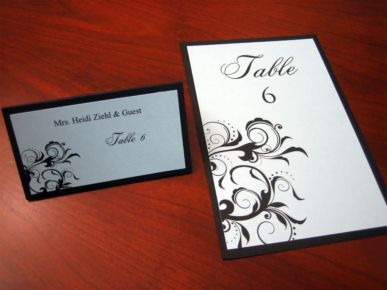 table number cards – A Vibrant Wedding