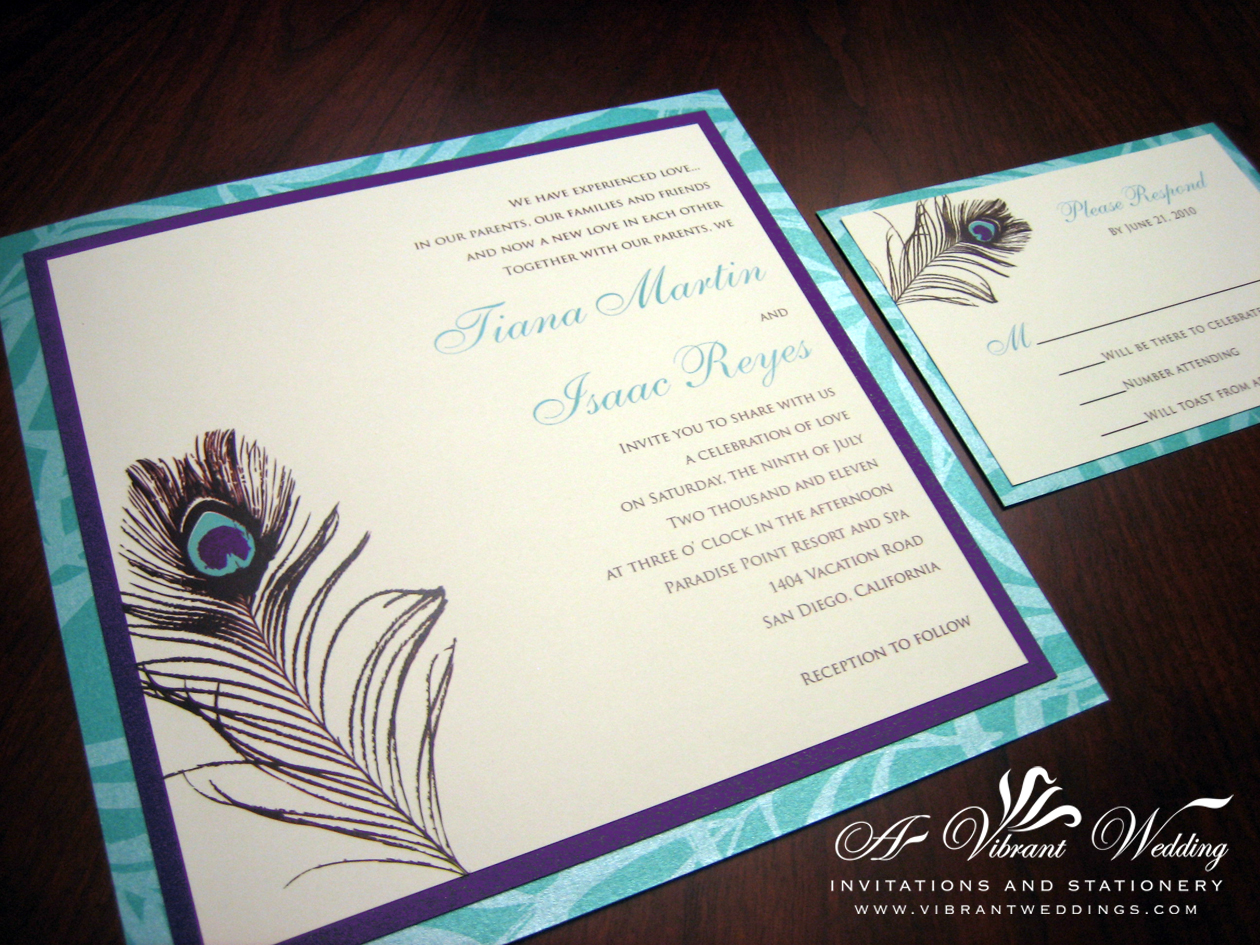 Purple and Blue invitation – A Vibrant Wedding