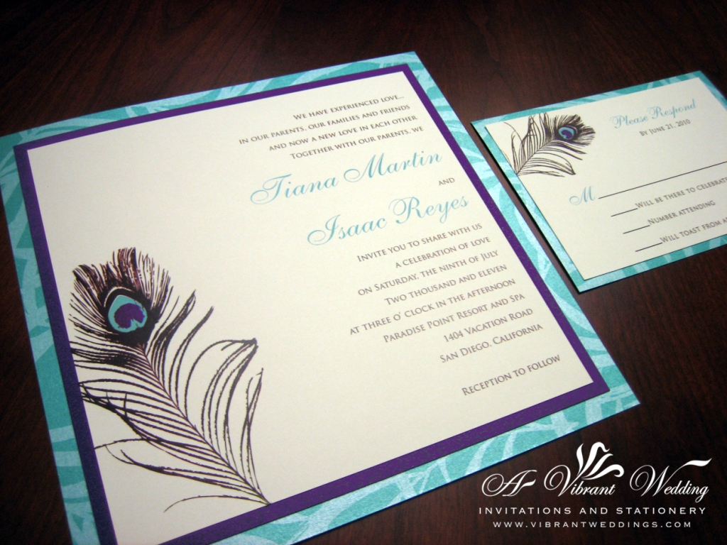 Purple And Blue Wedding Invitations: Middle Eastern Theme Designs