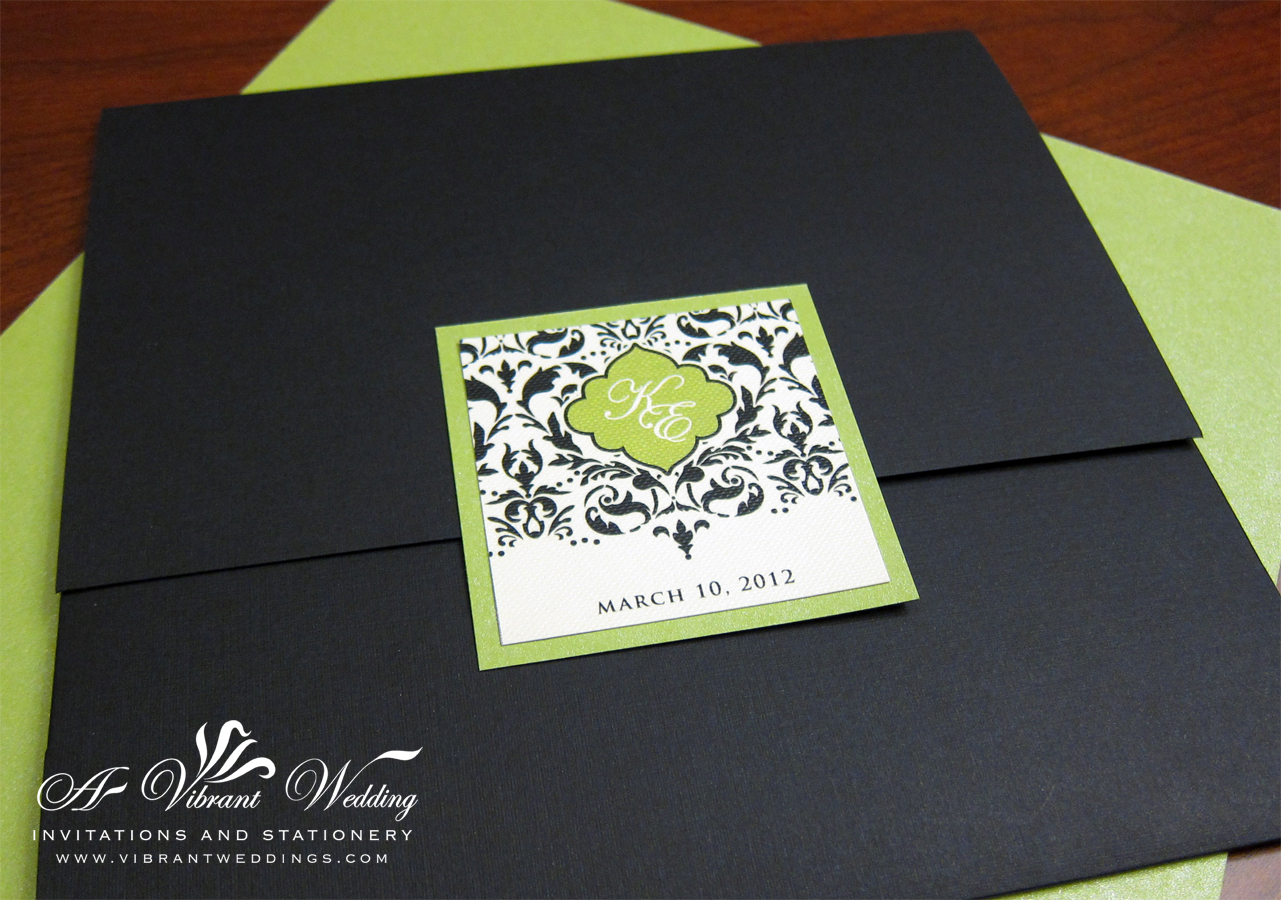 Black And Green Wedding Invitation A Vibrant Wedding