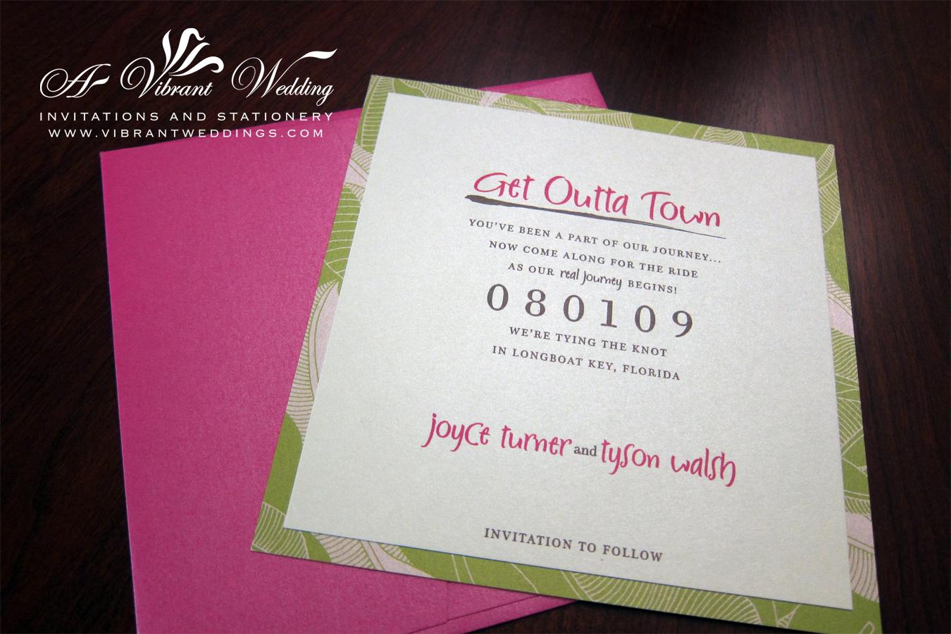 fuchsia wedding invitation – A Vibrant Wedding