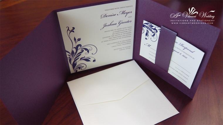Photograph wedding invitation