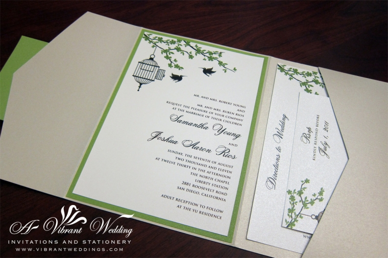 Bird Cage Wedding Invitation
