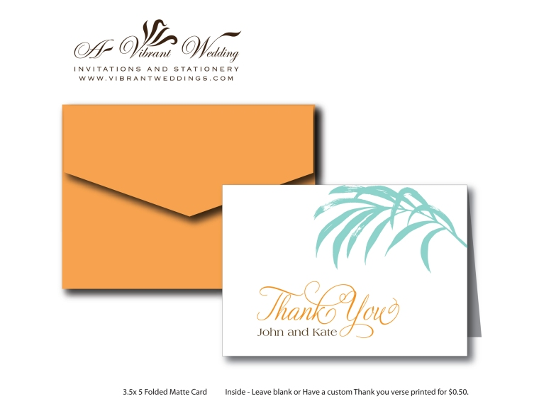 Thank you Card - Tropical/ Beach Theme
