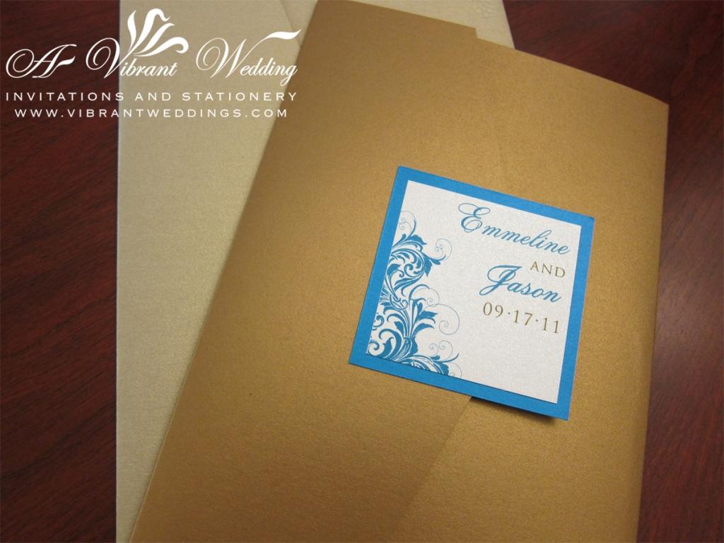 Turquoise wedding invitation   A Vibrant Wedding Web Blog