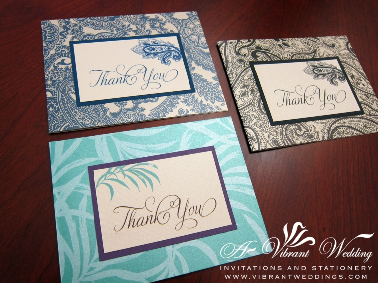 Paisley and Palm Thank you cards