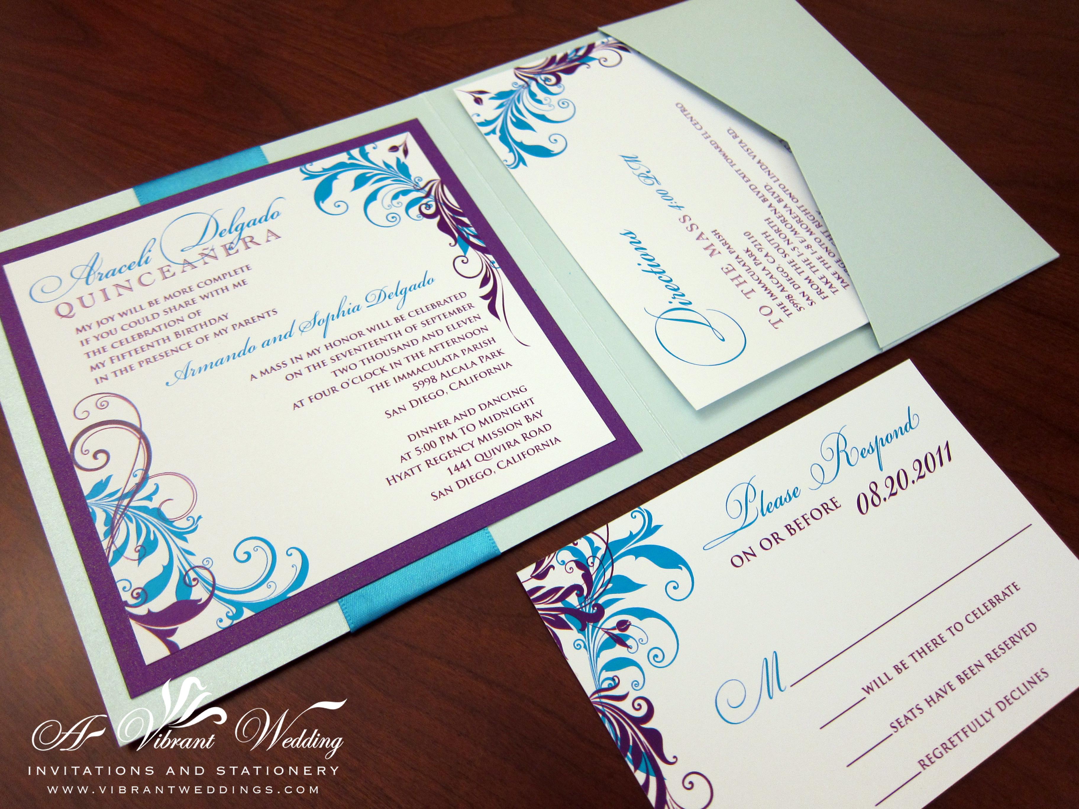 Quinceanera Invites – Page 2 – A Vibrant Wedding