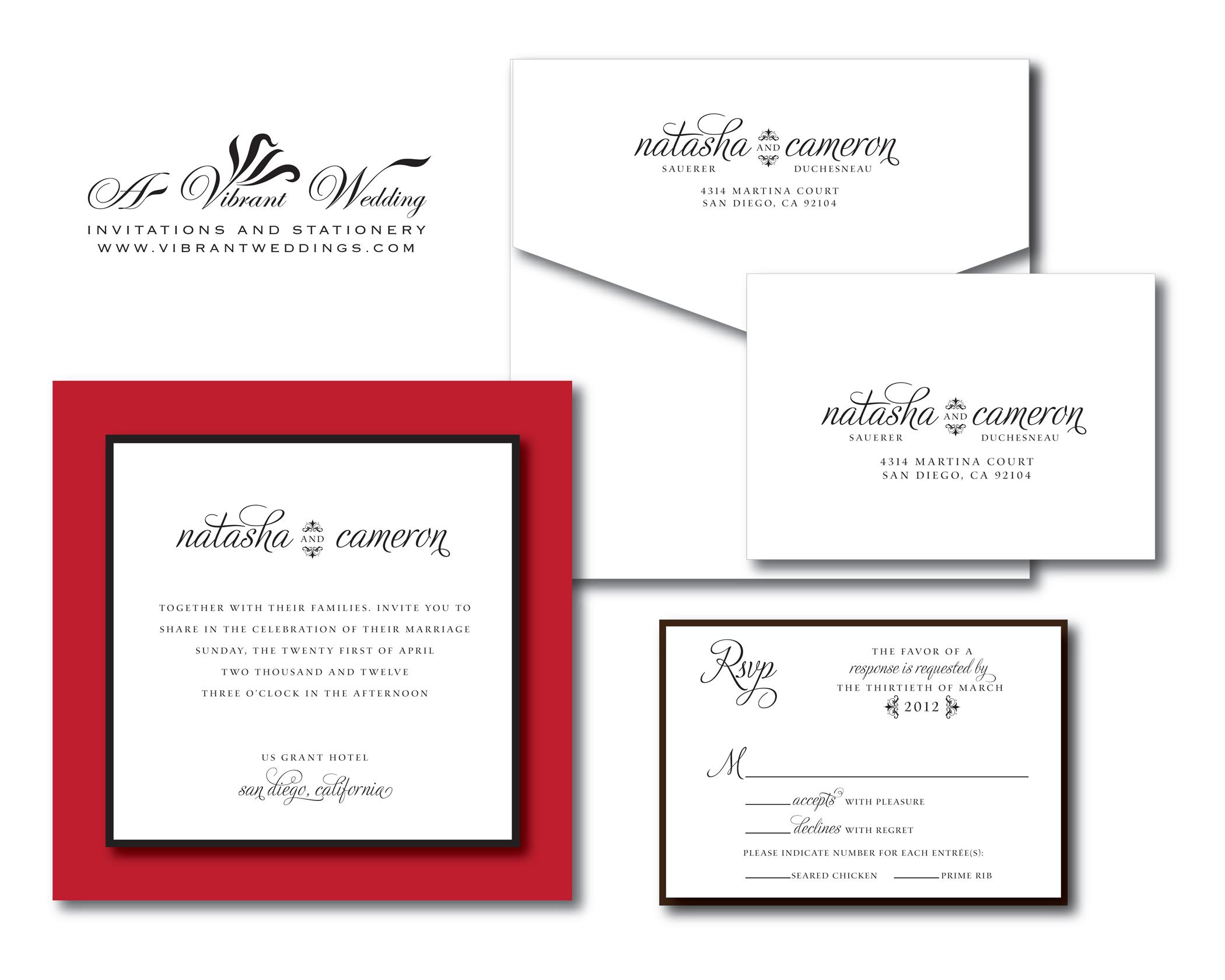 Red Wedding invitation – A Vibrant Wedding
