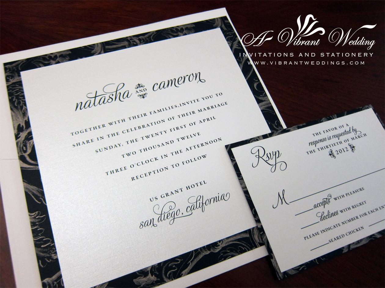 contemporary wedding invitation – A Vibrant Wedding