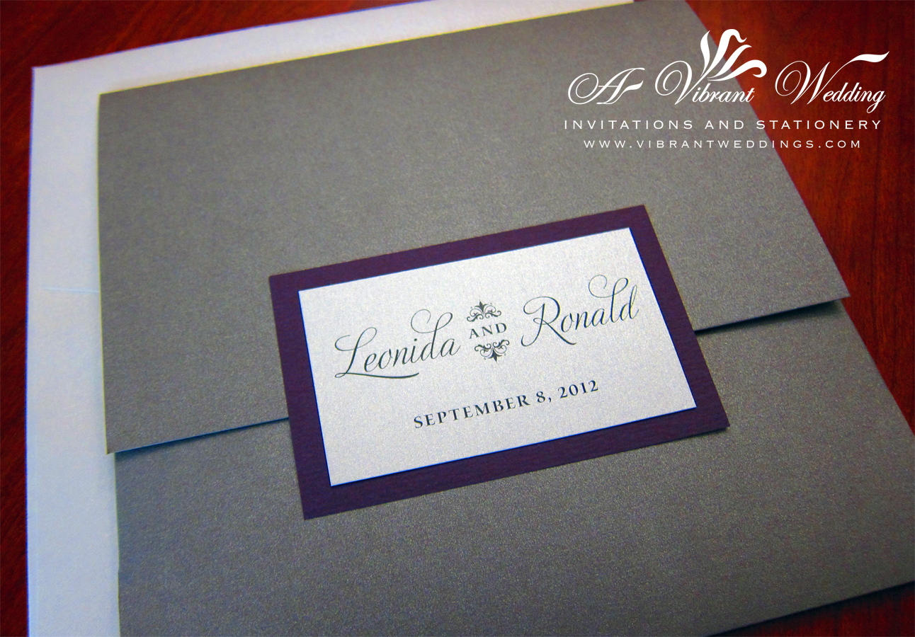 Purple And Silver Wedding Invitation A Vibrant Wedding