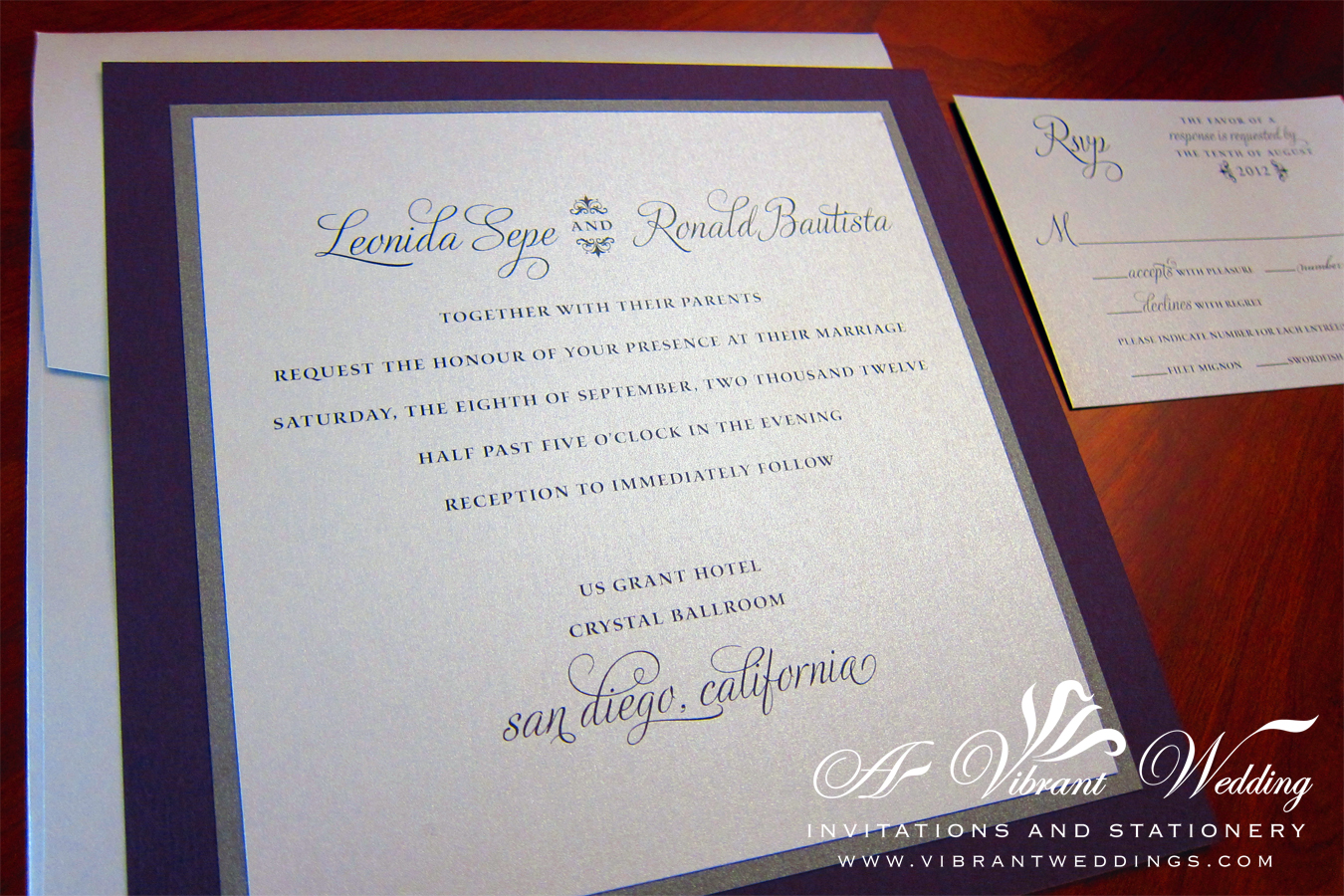 Silver And Purple Wedding Invitations: A Vibrant Wedding