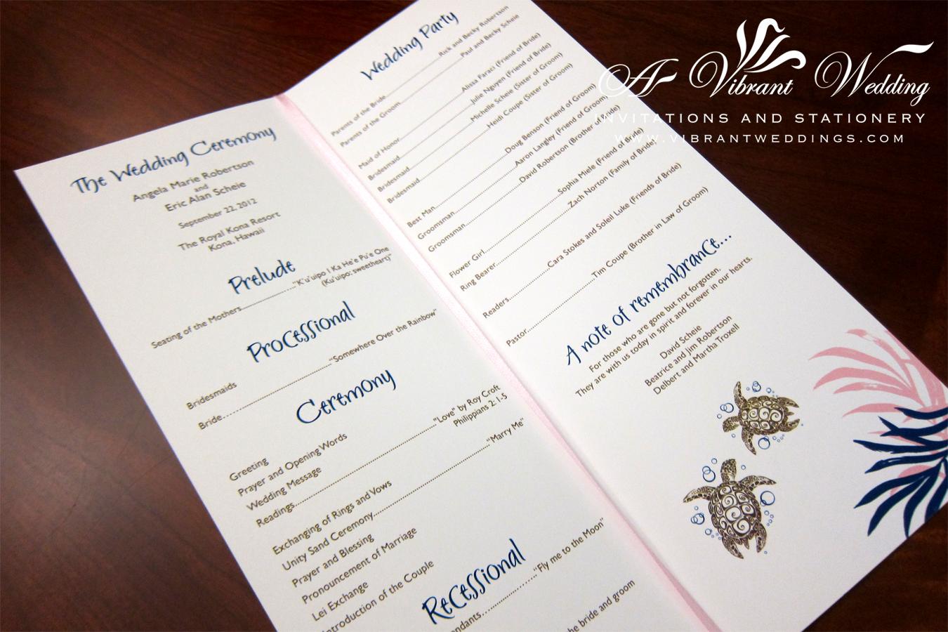 wedding stationery program paper