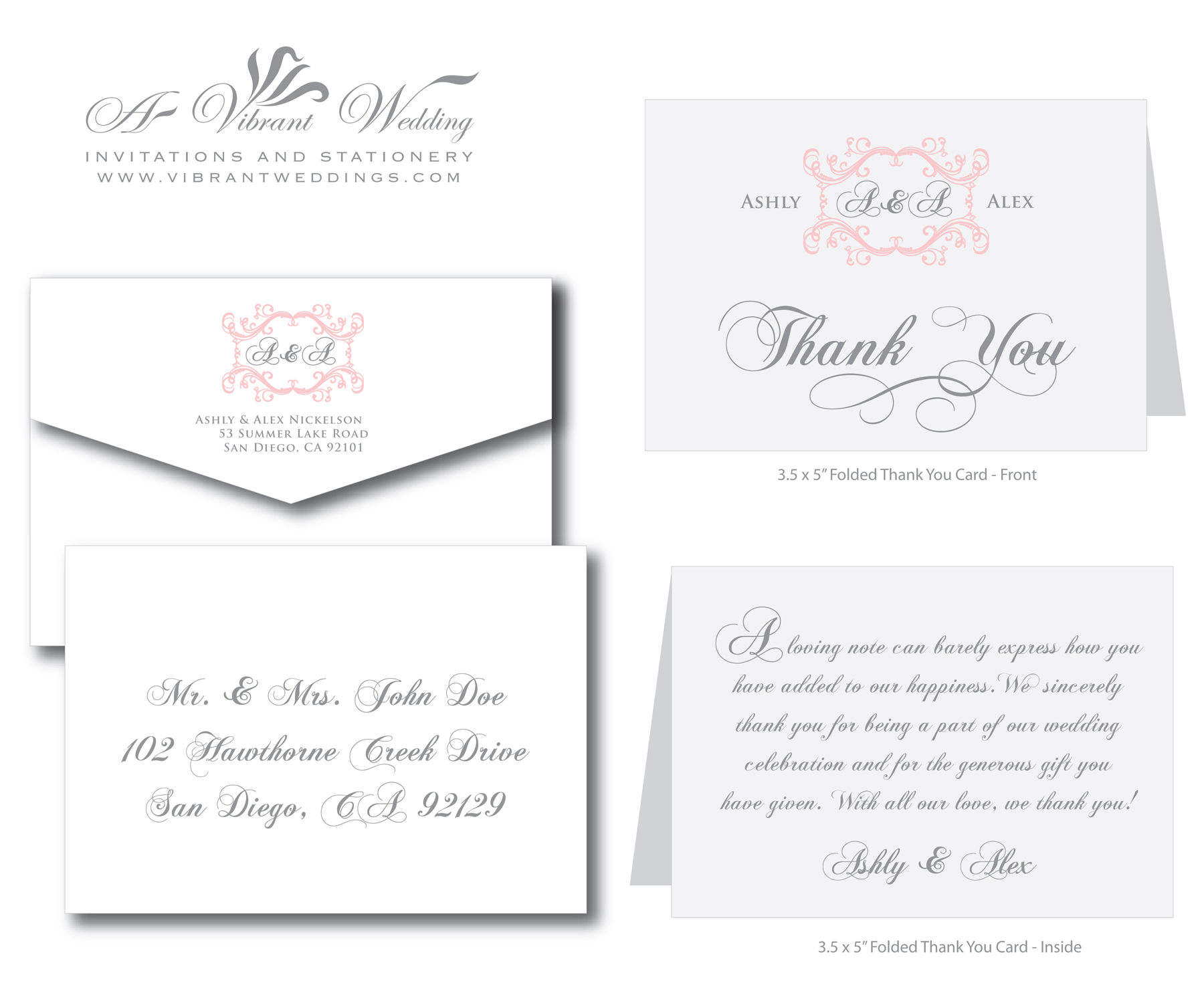 Wording Ideas For Wedding Thank You Cards : Thank You Wording A Vibrant Wedding Web Blog