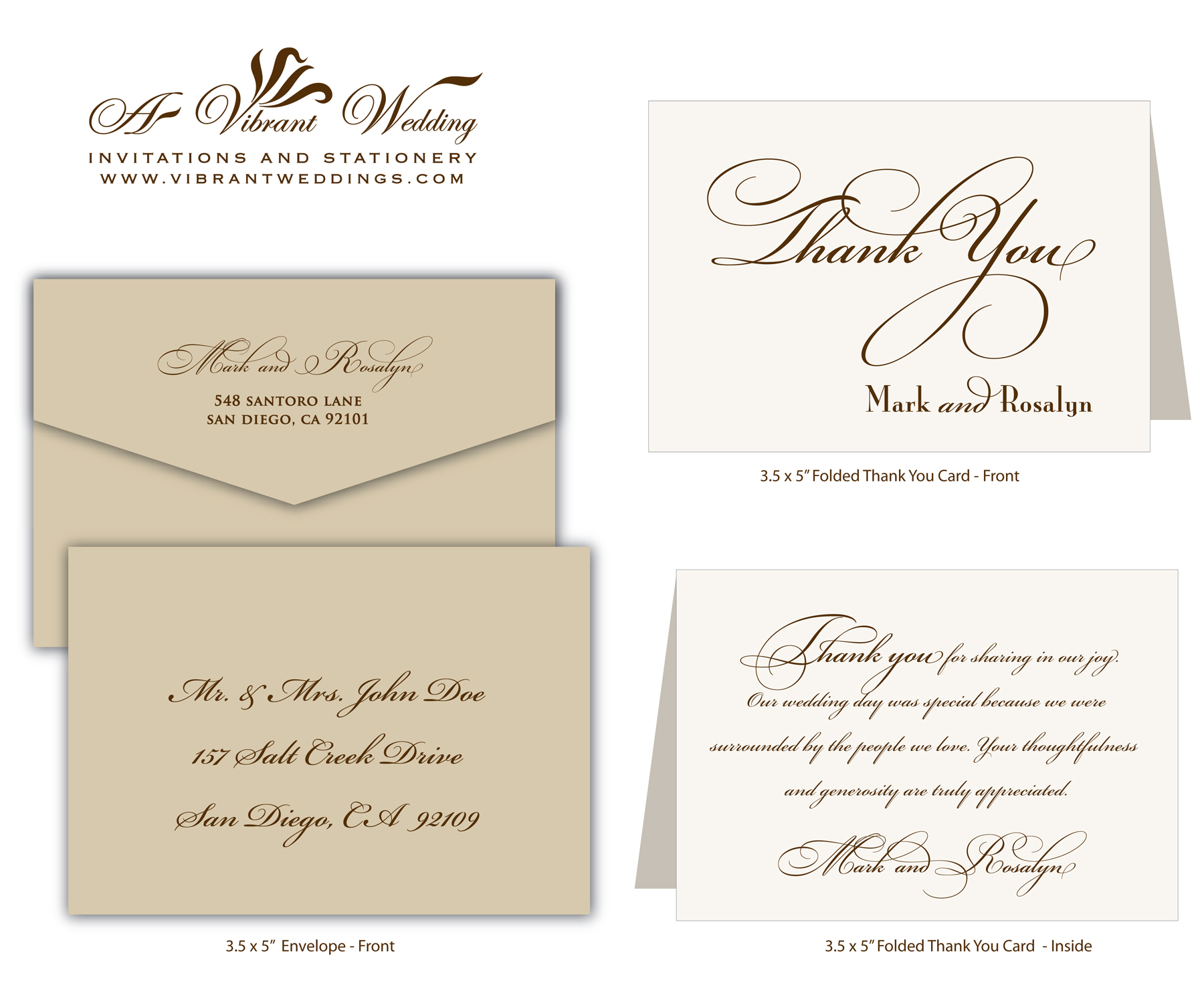 Thank You Wording A Vibrant Wedding – What to Write in Wedding Thank You Cards Sample