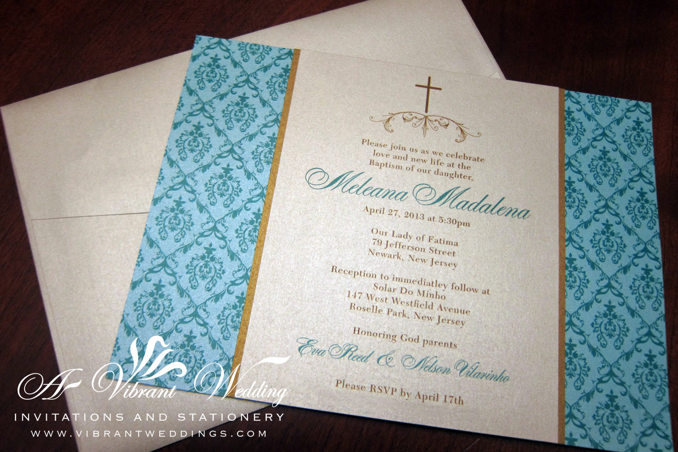 Baptism – A Vibrant Wedding Invitations