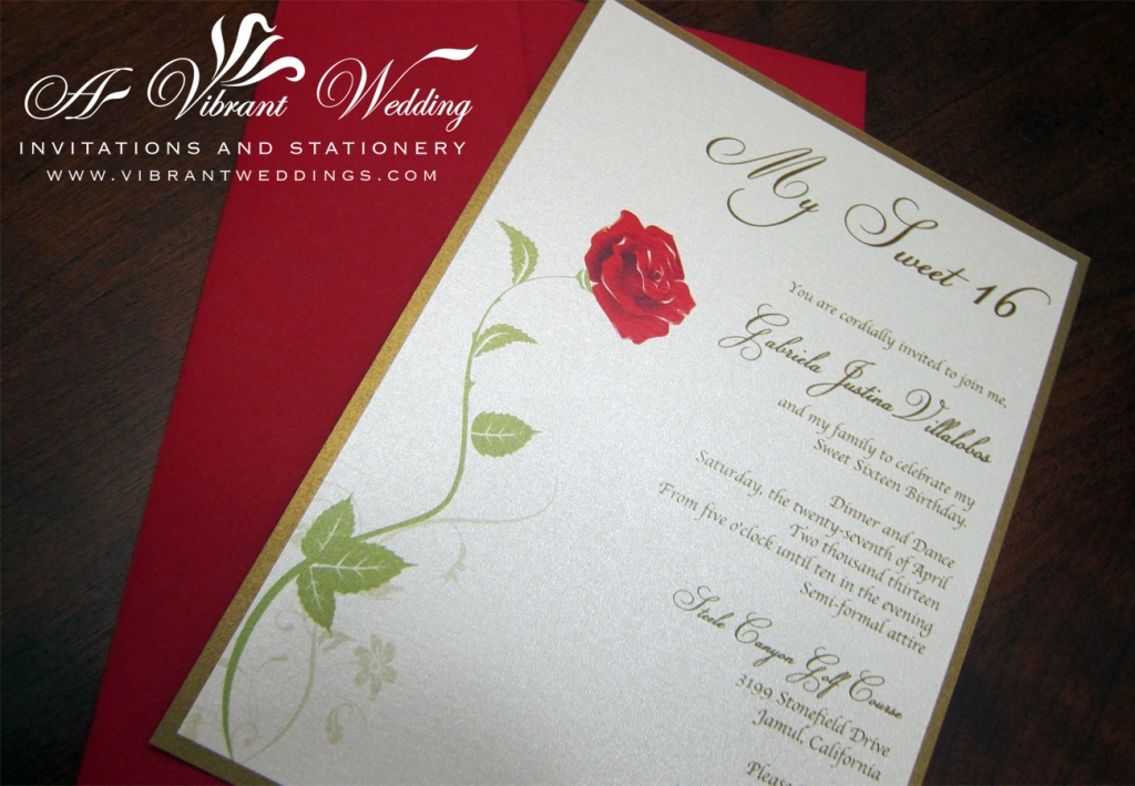 Beauty And The Beast Themed Wedding Invitations: A Vibrant Wedding Web Blog