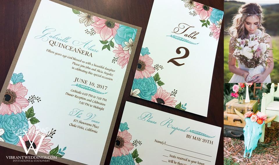 birthday invitations a vibrant wedding
