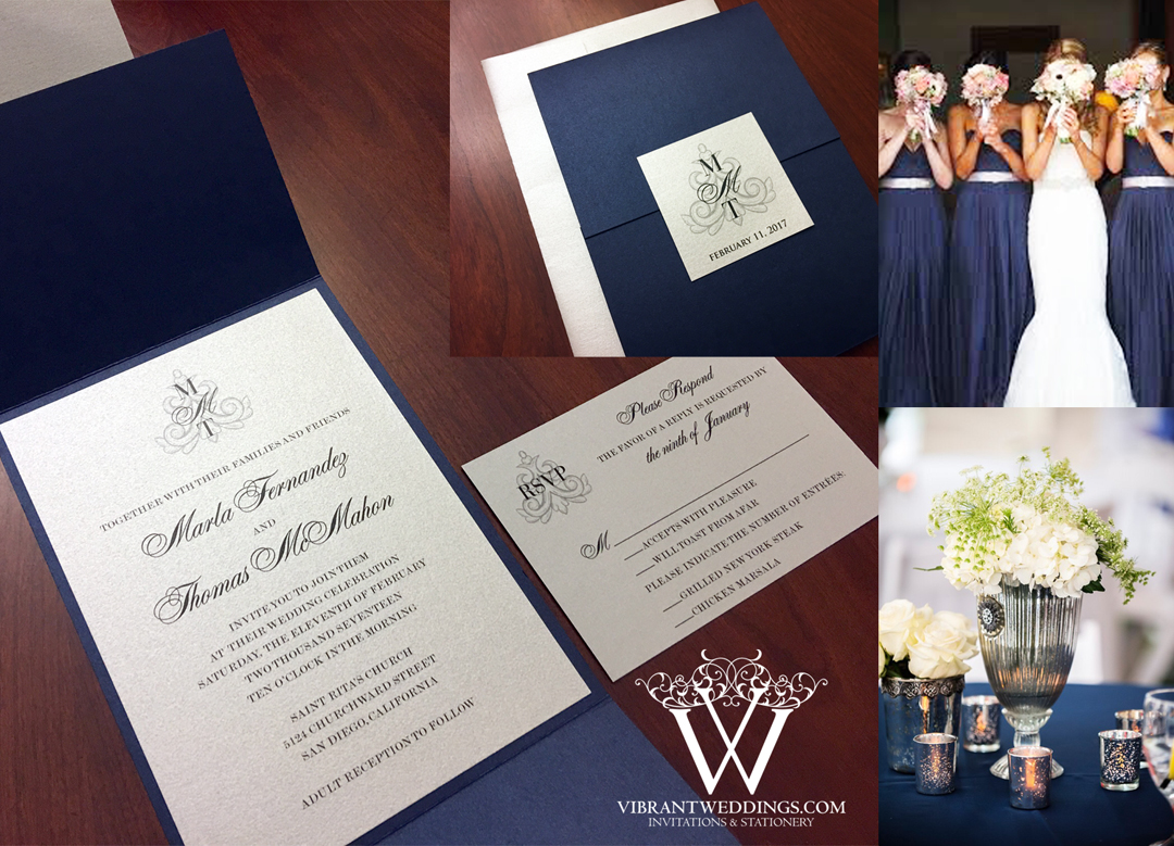 Silver Wedding Invitations: Custom Invitations & Stationery Design